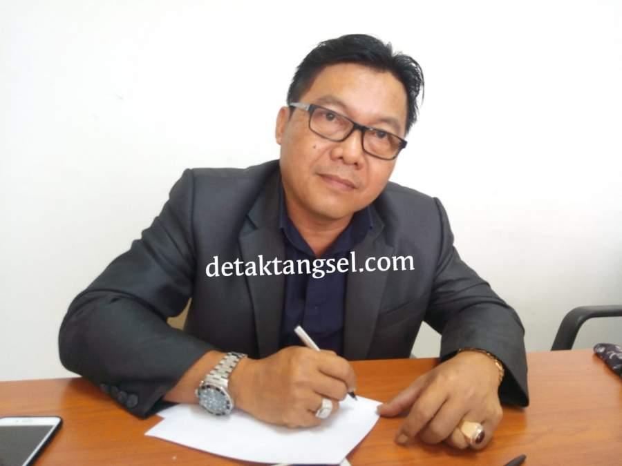 Iwan Rahayu, politisi PDIP Kota Tangerang Selatan dan Anggota DPRD Tangsel 2019-2024. (Ft by Dra dtk).