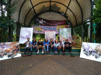 Komunitas Brush Stroke Gelar Workshop Lukisan
