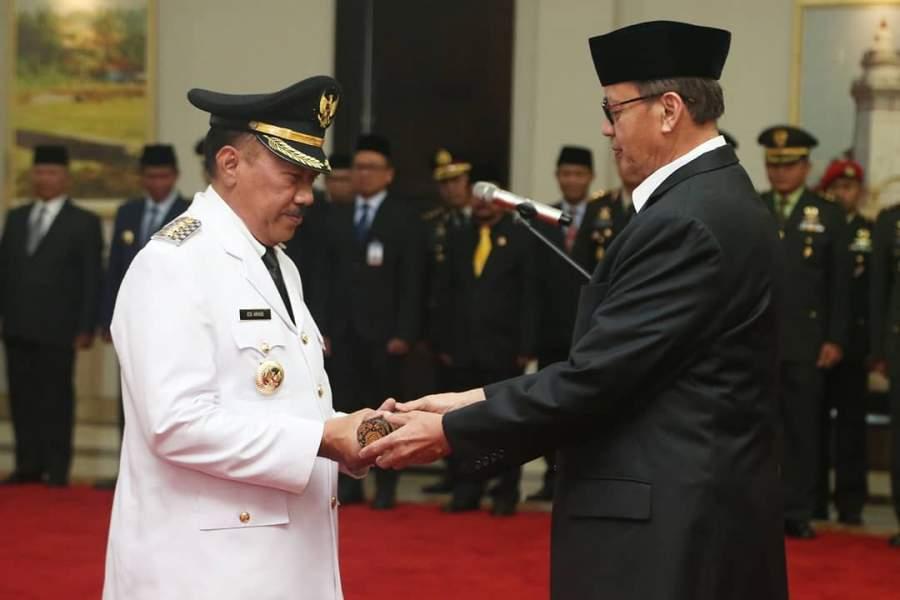 Walikota Cilegon Resmi di Lantik Gubernur Banten
