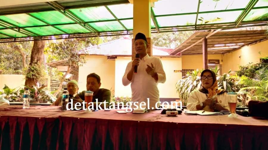 Wakil Ketua DPRD Tangsel, Amar, saat gelar reses di Ciputat Timur, Senin (18/2/2019).