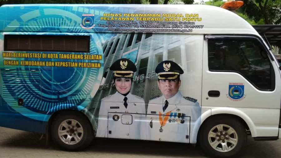 Desember 2018 Mobil Keliling DPMPTSP Tangsel Hadir di Tiga Tempat