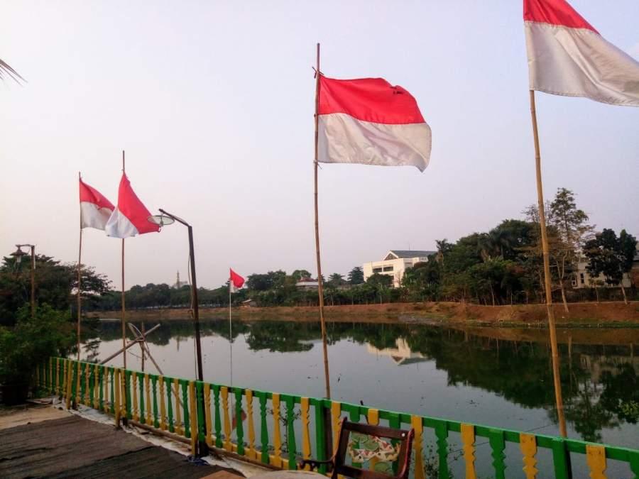 HUT RI Ke 74, Ribuan Bendera Merah Putih Bakal Hiasi Situ Perigi