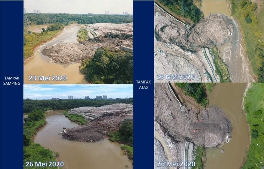 Tanggap Darurat Pasca Gunung Sampah Longsor ke Sungai Cisadane