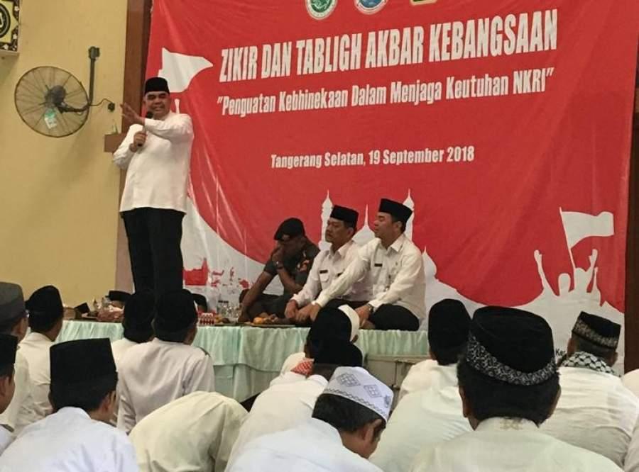 Anggota DPR-RI Irgan Chairulahfidz saat memberikan ceramah kebangsaan di MAN Insan Cendekia, Serpong.